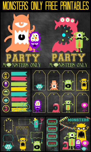 Monsters Party Free Printables