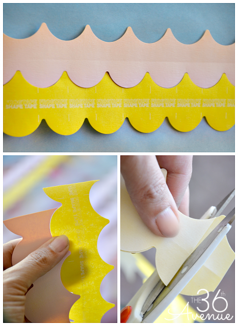 30 minutes DIY Scallop Wall... Tutorial at www.the36thavenue.com