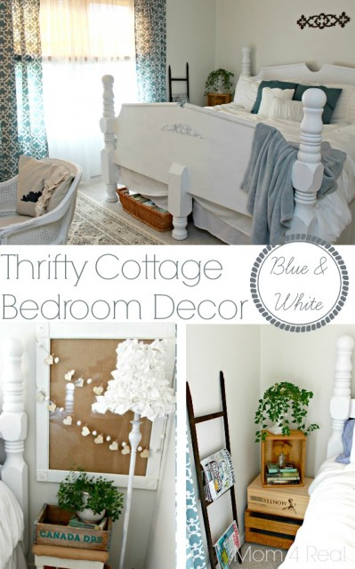 Thrifty-Blue-and-White-Cottage-Bedroom-Decor