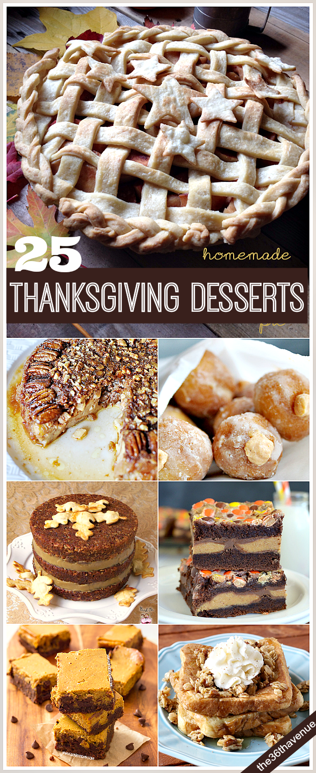 Fall Recipes - Thanksgiving Desserts and Treats that you are going to love. Pin it now and make them later.