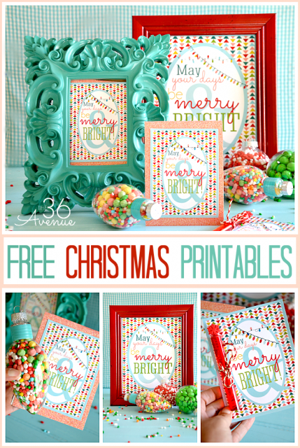 Christmas Free Printables at the36thavenue.com These are perfect for gifts and decor! #christmas #printable