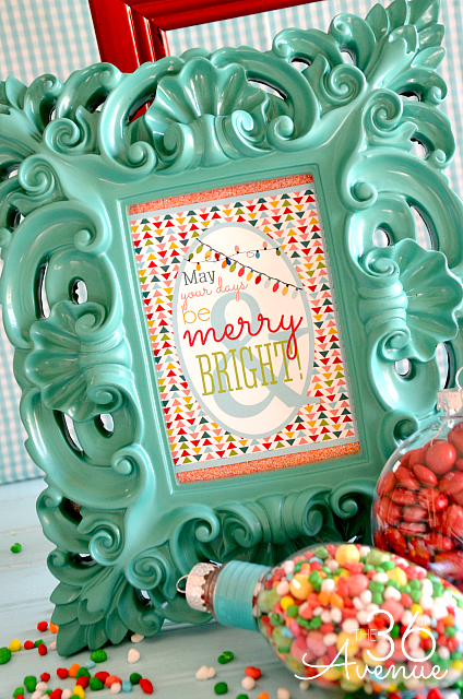 Free Christmas Printables at the36thavenue.com Merry and Bright!