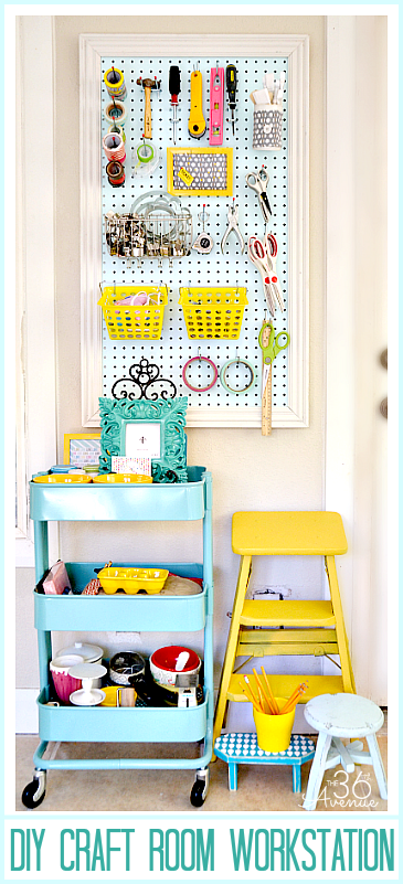 DIY Craft Room Workstation and Organization Tips. the36thavenue.com