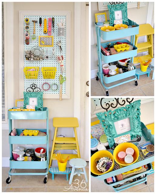 All About The Furniture Ikea Raskog Cart Craft Storage Ideas