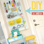 Craft Room Makeover ~ Workstation