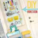 Craft Room Makeover ~ Workstation