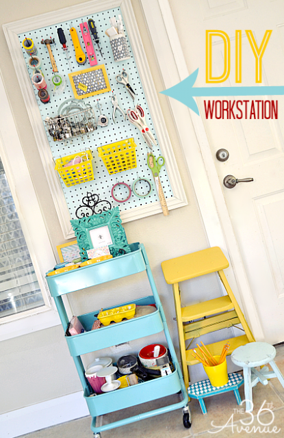 Craft Room Workstation and Organization Tips. the36thavenue.com