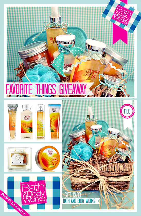 Enter to win 30 Gift Baskets full of our Favorite Things at the36thavenue.com ...So fun!