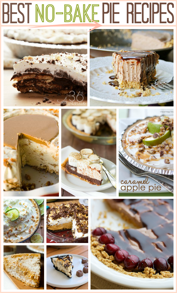 No-Bake Pie Recipes at the36thavenue.com