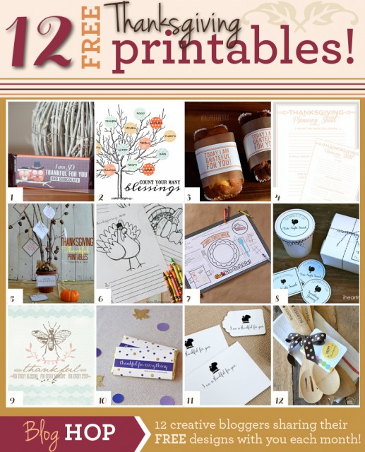 12 Free Thanksgiving Printables at the36thavenue.com These are awesome!