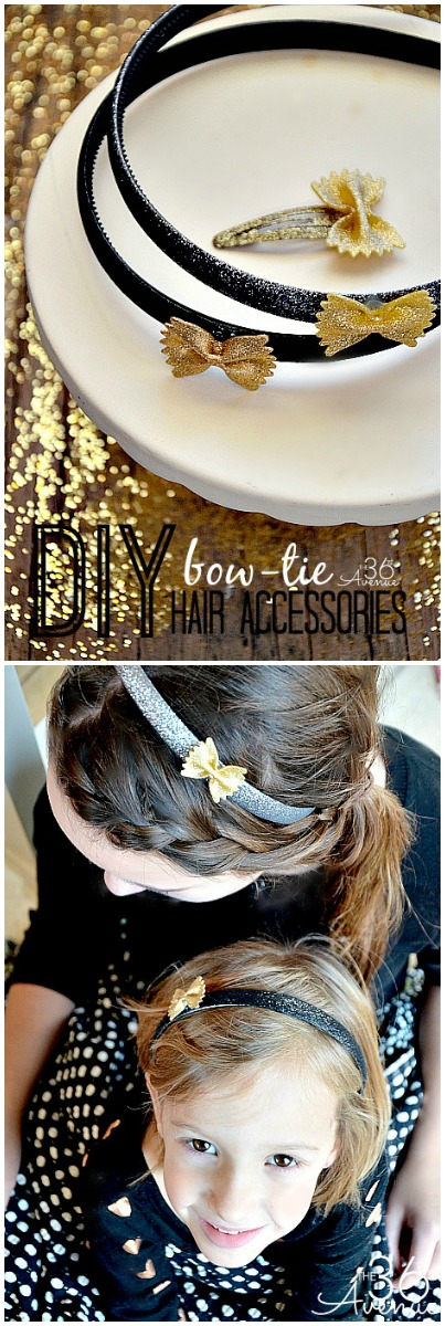 Super cute DIY HAIR ACCESSORIES made with pasta!