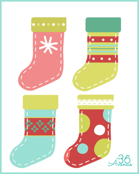 graphic about Printable Stockings named Do-it-yourself Xmas Stocking Printable - The 36th Road