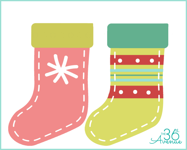 image regarding Printable Stockings titled Do-it-yourself Xmas Stocking Printable - The 36th Street