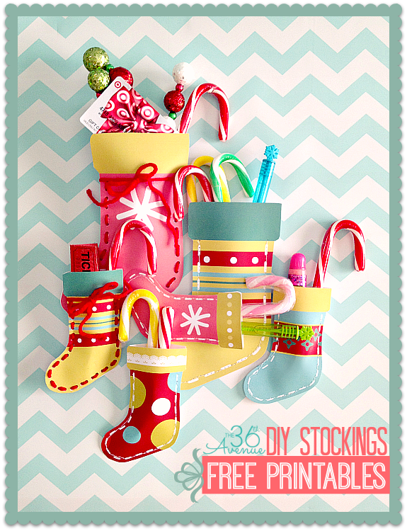 Christmas Stockings Free Printables the36thavenue.com