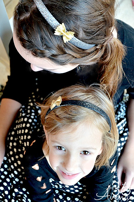 Adorable DIY Bow Tie Hair Accessories Tutorial at the36thavenue.com  Super affordable and easy to make! #newyears #hair #diy