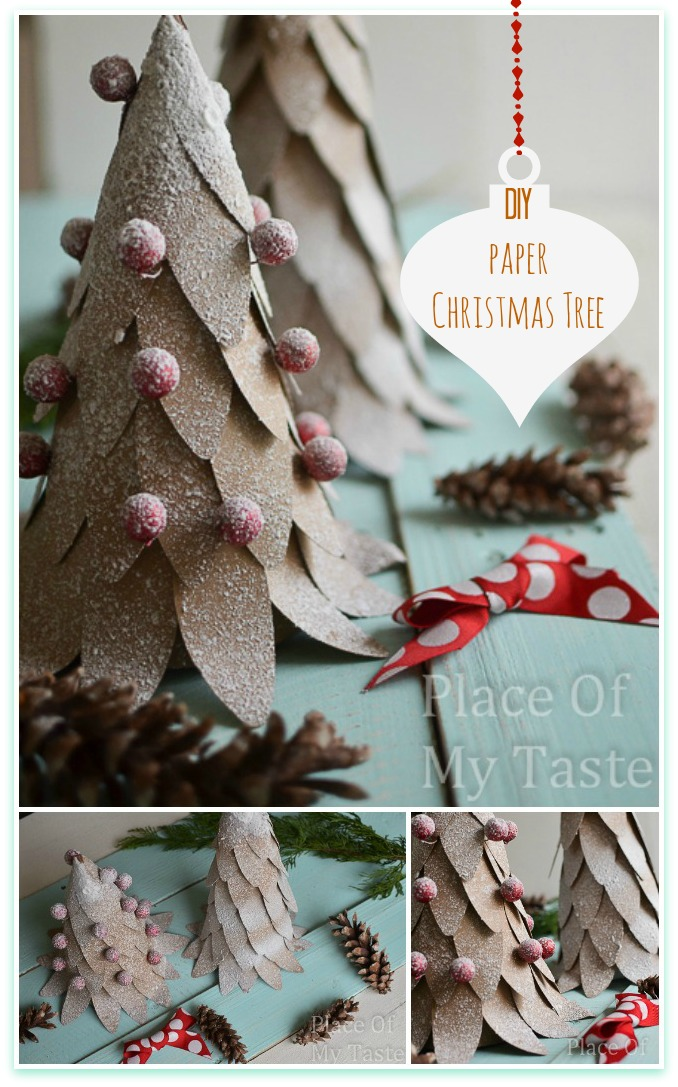 diy paper christmas trees and its printable shapes at place of my ...