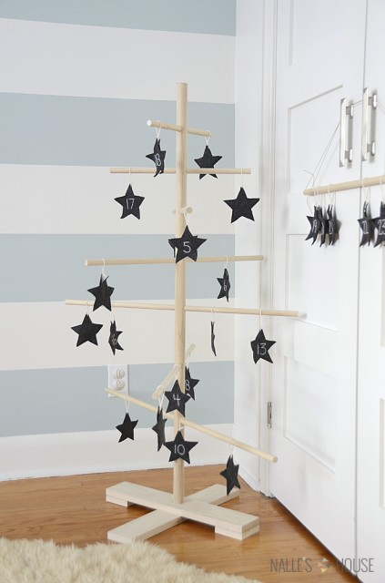 DIY Wooden Dowel Tree