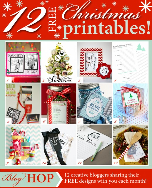 12 Free Christmas Printables at the36thavenue.com SO MANY CUTE IDEAS!