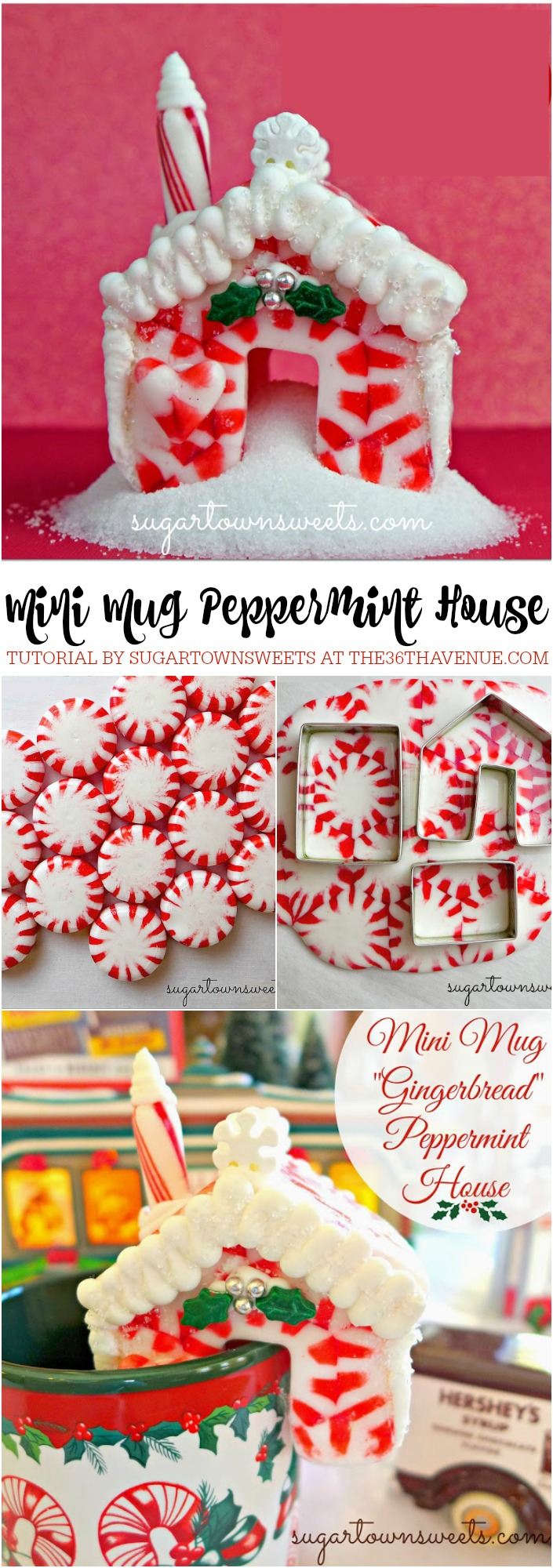 Christmas Recipes - How to make a Mini Mug Peppermint House.