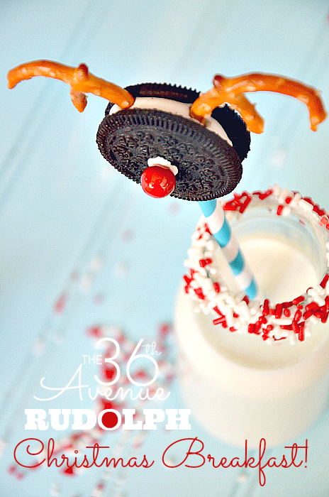 """Adorable Rudolph Cookie Treat and link to 25 Christmas edible gifts ideas… Oh """"deer""""! #christmas #recipes #gifts"""
