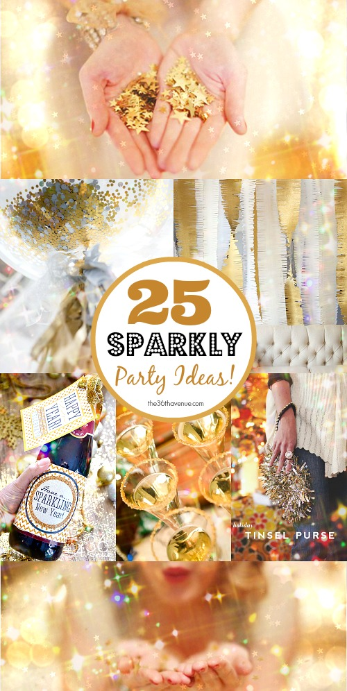 The 36th avenue 25 diy sparkly ideas new years the for Fun new years eve party ideas