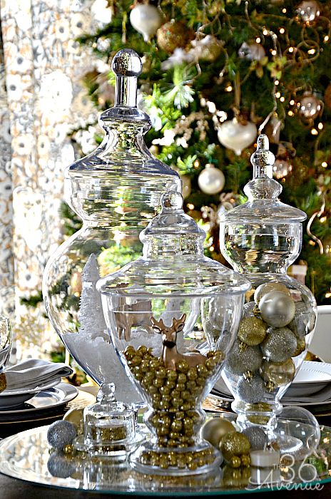 Christmas Table Escape Ideas using things that you may already have! #christmas #decor #homedecor