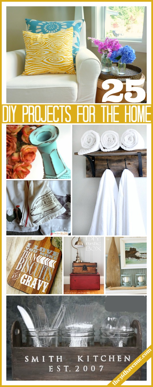 25 Pretty cool DIY ways to give your home a new look! the36thavenue.com #home #diy