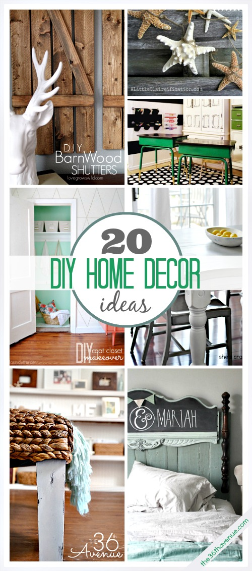 20 diy home decor ideas the 36th avenue for Home design ideas handmade