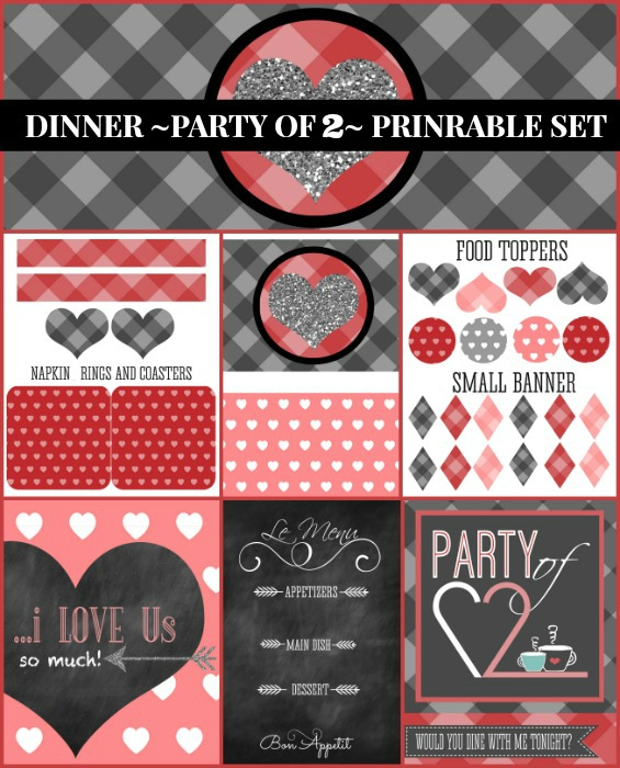 Dinner Party of Two Printable Set
