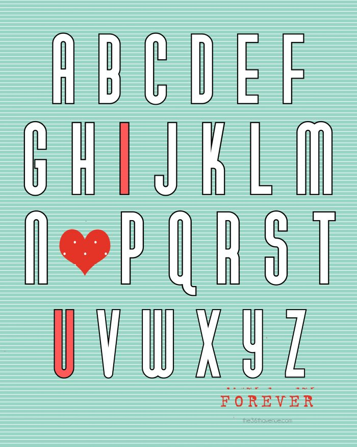Free Valentine's Day Printable. More cute colors.
