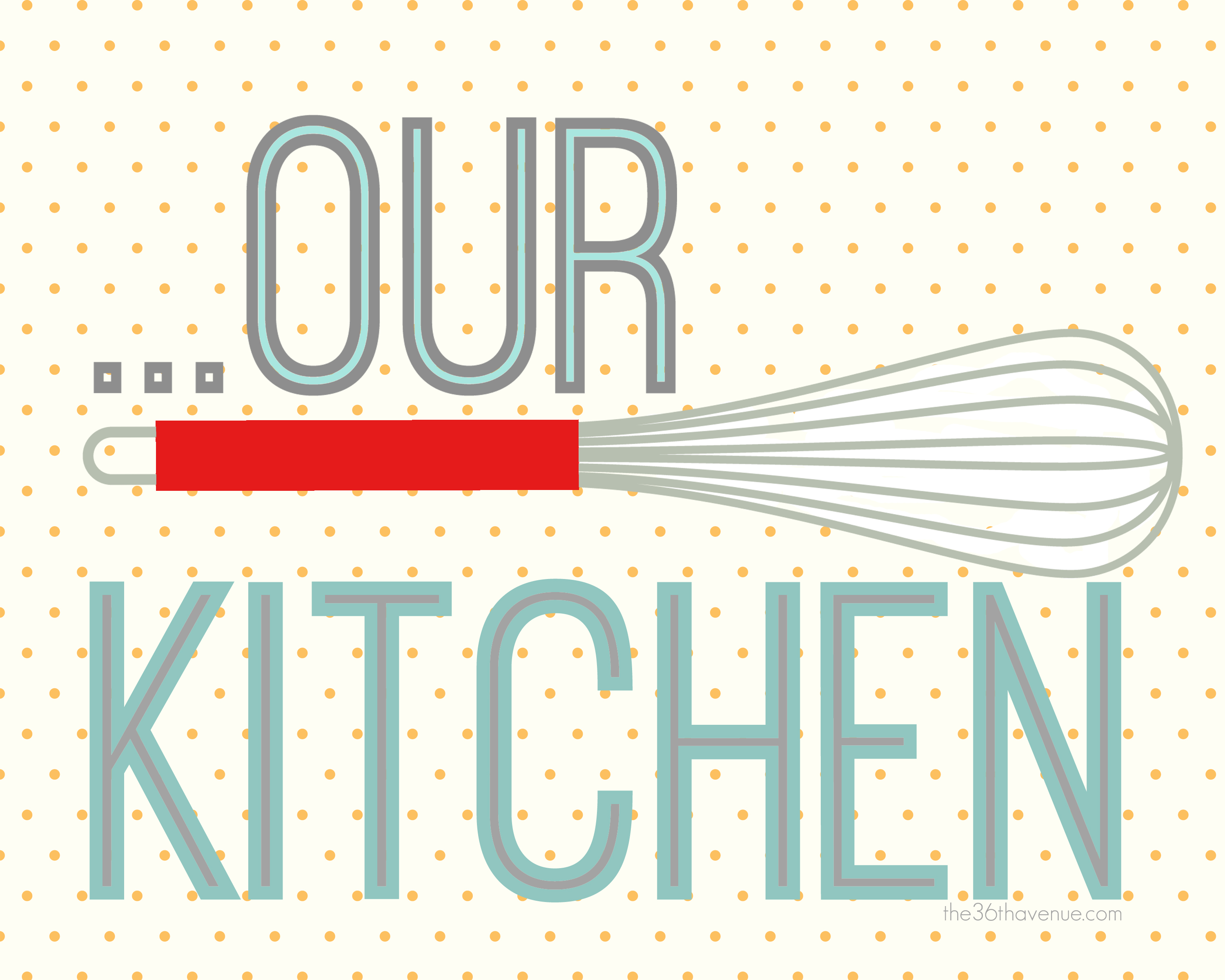 Free printable kitchen set the 36th avenue for Kitchen art pictures