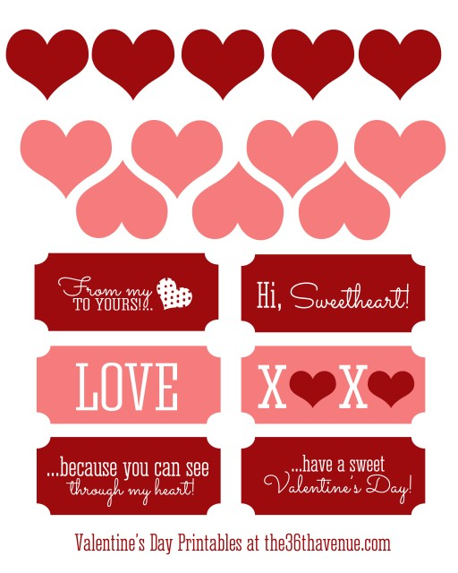 Free Valentine Printable at the36thavenue.com