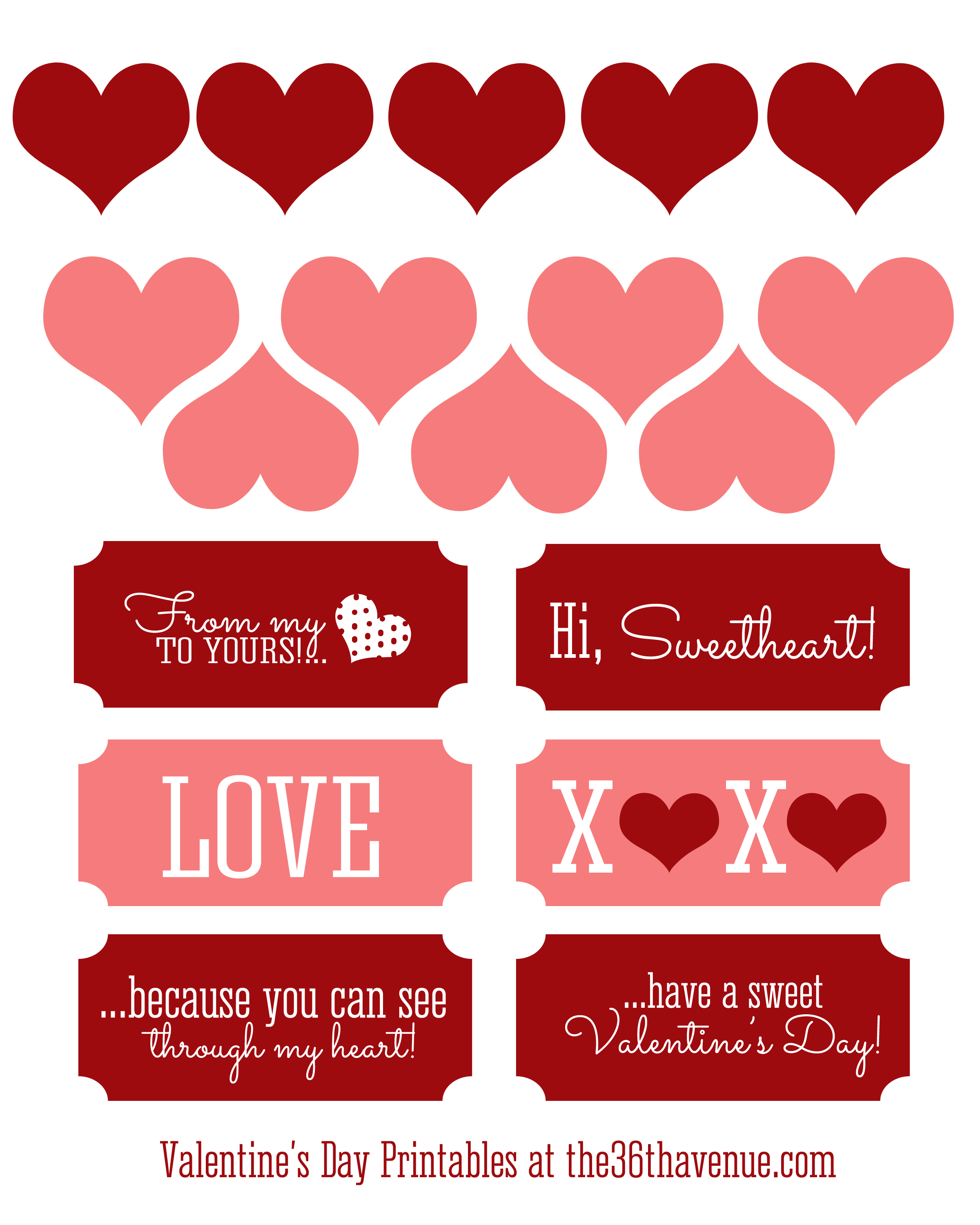 image about Valentine's Day Tags Printable named No cost Valentine Printable and Centre Sweet Jar - The 36th Street
