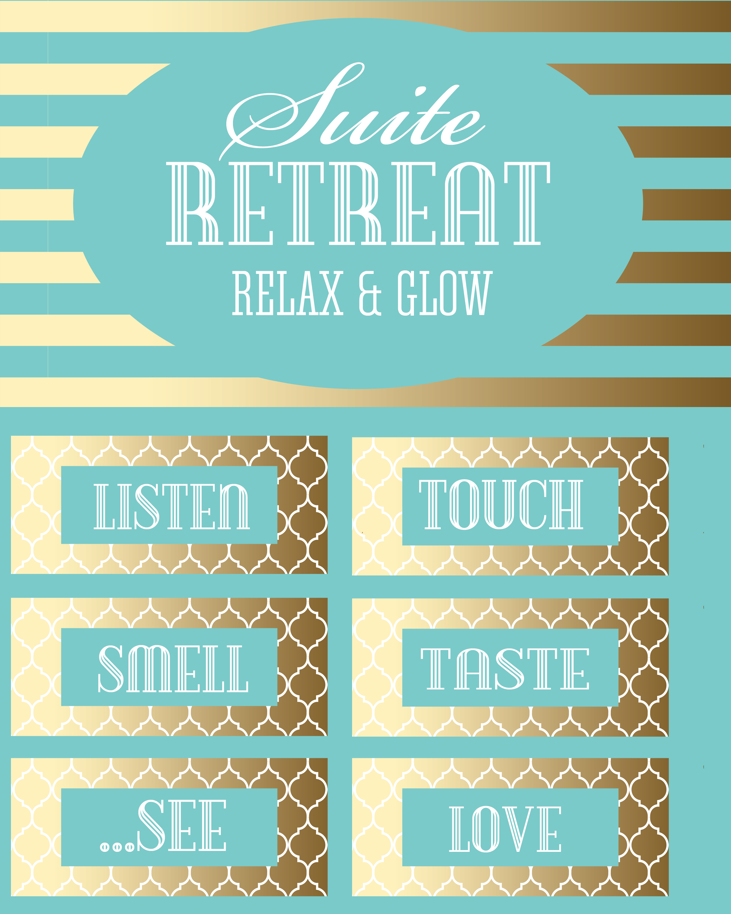 Free Printables to make this adorable Suite Retreat Basket. Perfect for a romantic date and