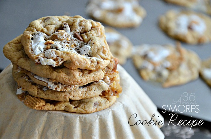 These S'mores Cookies are so good! They have the familiar comfort of chocolate chips, the chewy texture of a brownie and the yummy flavors of a S'more!