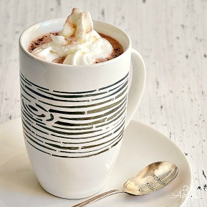 DIY Permanent Marker Stenciled Mug