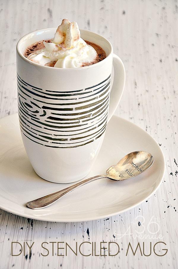 DIY Stenciled Mug