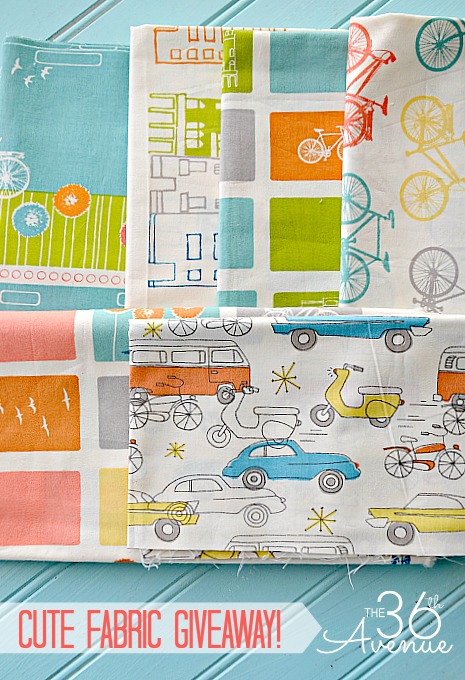 36 Yards of Fabric Giveaway + 15 DIY Fabric Project Tutorials... These are awesome! #craft #diy