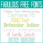 Free Fonts ~ Fabulous Edition