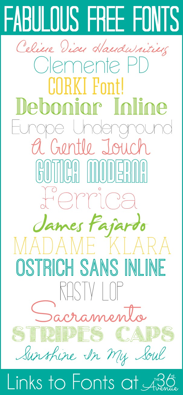 Love these FREE FONTS! Get the links and instructions to download at the36thavenue.com