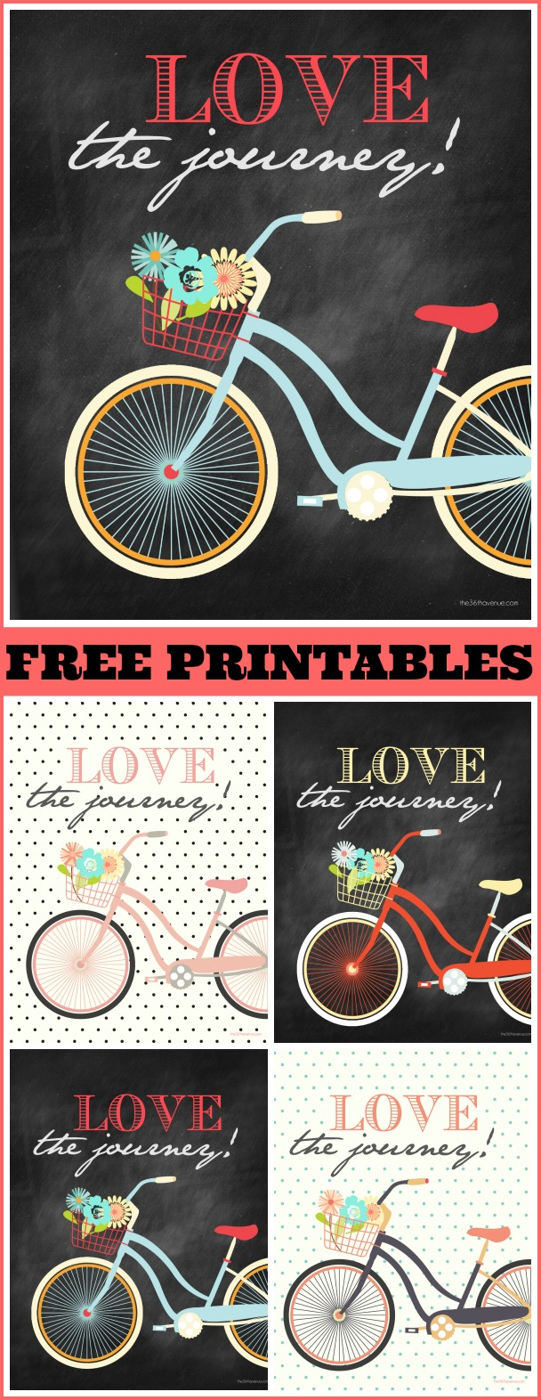 Vintage Bicycle Printable for Party Decorations