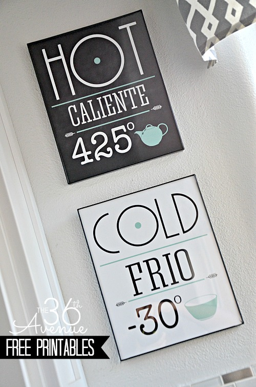 Free Printable Set.. Perfect to decorate your kitchen! #printables #kitchen