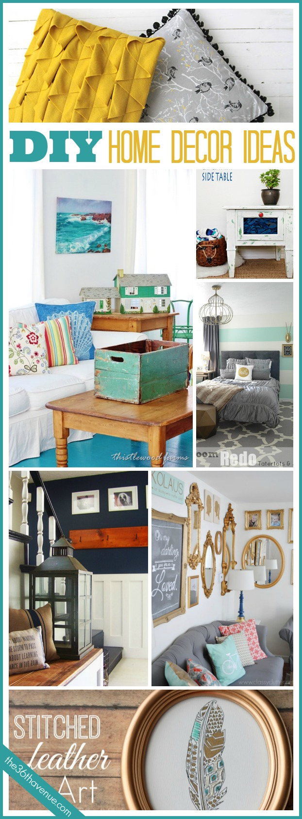 20 DIY Home Decor Ideas The 36th AVENUE
