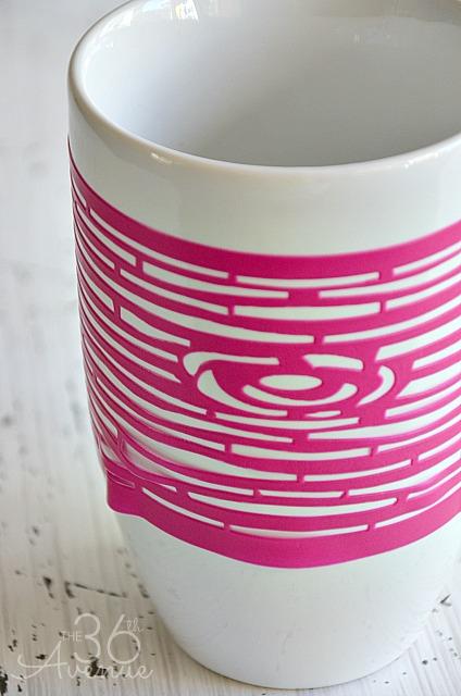 Stenciled Mug 1