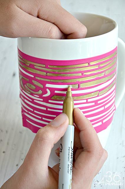 Stenciled Mug 2