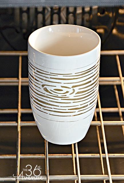 Stenciled Mug 4