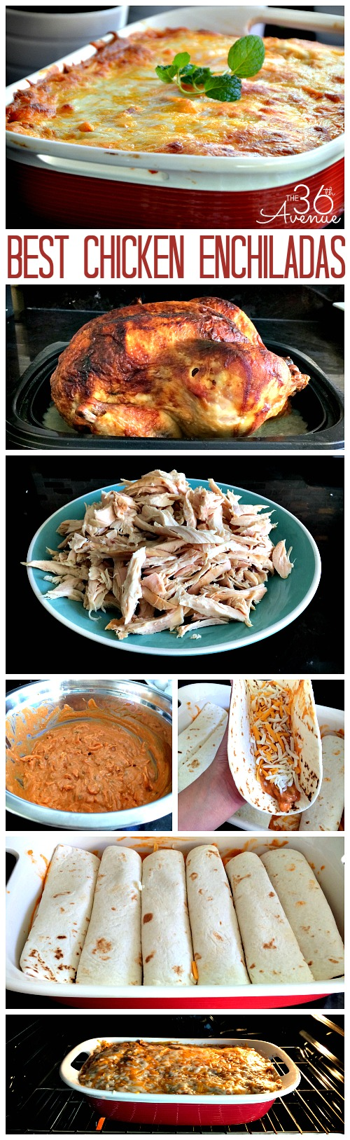 Best Chicken Enchiladas EVER! Pin it now and make them later!
