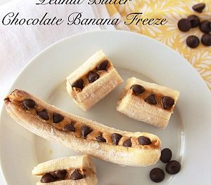 Peanut Butter Chocolate Banana Freeze