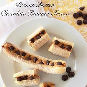 Peanut Butter Chocolate Banana Freeze