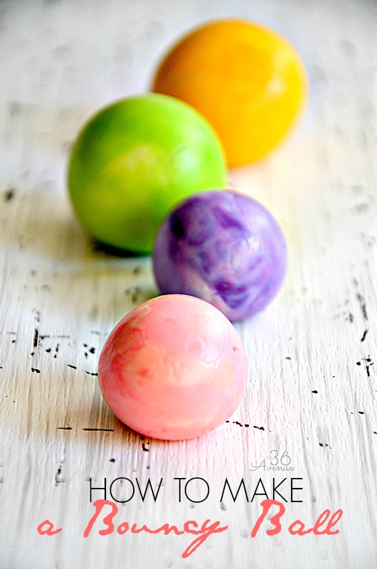 How to make a bouncy ball Tutorial... Kids love making and playing with these! #crafts #kids @the36thavenue